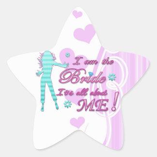 i am the bride about me wedding bachelorette brida star sticker