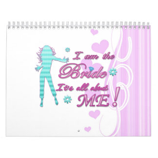 i am the bride about me wedding bachelorette brida calendar