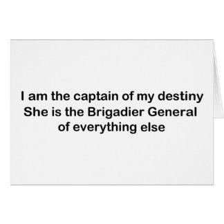 I am the Captain of my destiny Card