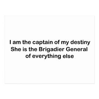 I am the Captain of my destiny Postcard