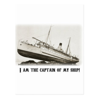 I am the Captain of my Ship Postcard