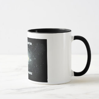 I am the center of my universe mug black