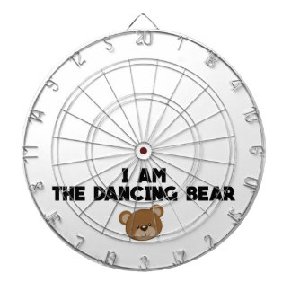 I Am The Dancing Bear Dartboard With Darts