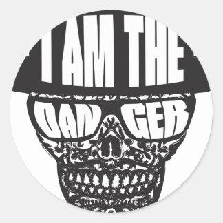 I am the Danger Classic Round Sticker