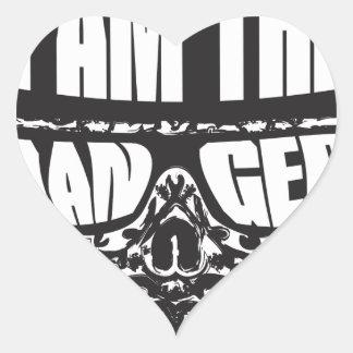 I am the Danger Heart Sticker