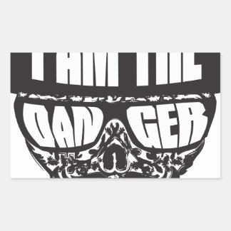 I am the Danger Rectangular Sticker