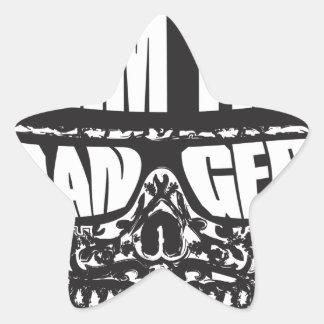 I am the Danger Star Sticker