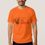 I am the Director Camiseta Clara de Cinema Poleras