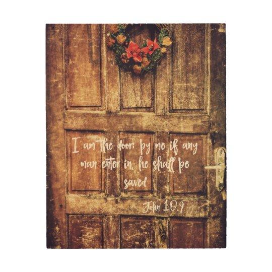 I am the Door Bible Verse Wood Wall Decor | Zazzle.com