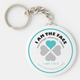 I AM THE FACE Blue Keychain