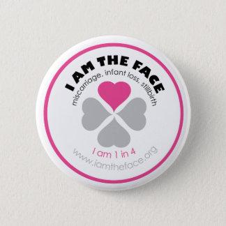 I AM THE FACE Pink Button