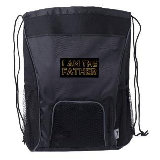 I AM THE FATHER drawstring bag (black)