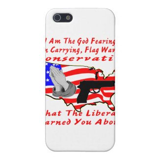 I Am The God Fearing, Gun Carrying, Flag Waving iPhone SE/5/5s Case