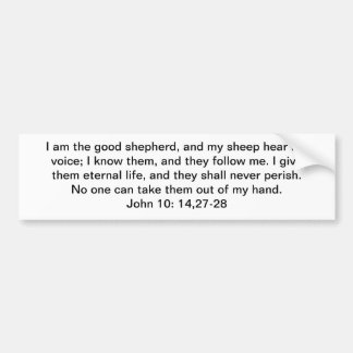 I Am the Good Shepherd Bumper Sticker
