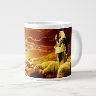 """I am the good shepherd. John 10:11 Giant Coffee Mug"