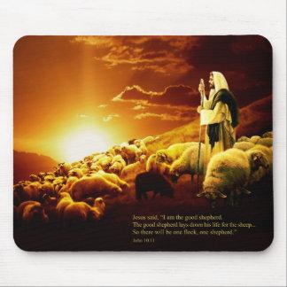 """""""I am the good shepherd. John 10:11 Mouse Pad"""