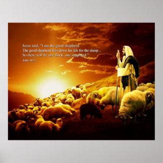 """""""I am the good shepherd. John 10:11 Poster"""