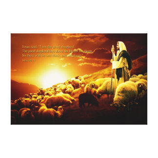"""I am the good shepherd. Wrapped Canvas Gallery Wrap Canvas"
