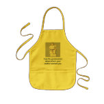 I am the grammarian about whom your mother warned kids' apron