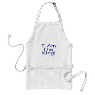 I Am The King Adult Apron