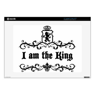 I am The King Laptop Skin