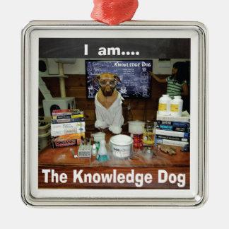 I am The Knowledge Dog genuine original Metal Ornament