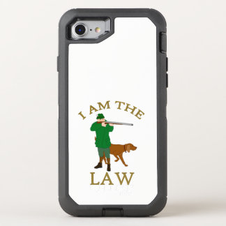 I am the law with a farmer with a gun OtterBox defender iPhone 8/7 case