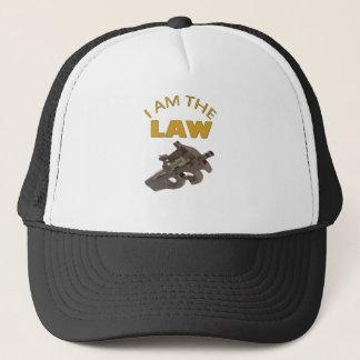 I am the law with a m4a1 machine gun trucker hat