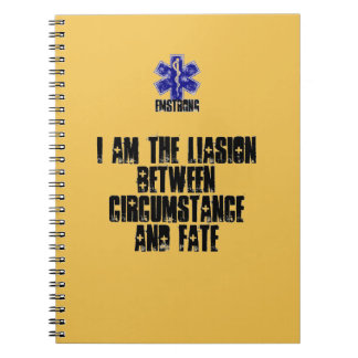 I Am The Liasion Between Circumstance and Fate Spiral Notebook