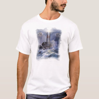 """I am the Light"" men's T-shirt with lighthouse"