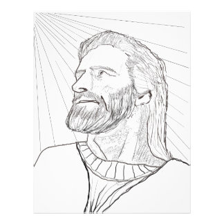 I am the Light of The World -Jesus Coloring Image Flyer