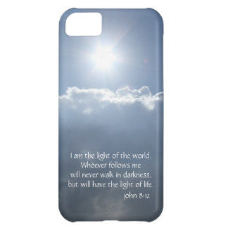 I am the light of the world (John 8:12) Sun Clouds iPhone 5C Cases