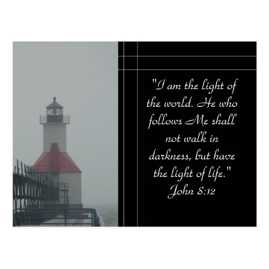 I am the Light... Postcard
