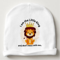I am the little king baby beanie