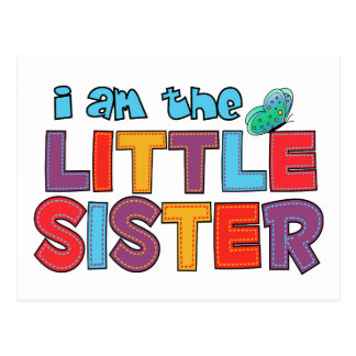 I am the Little Sister Butterfly Postcard