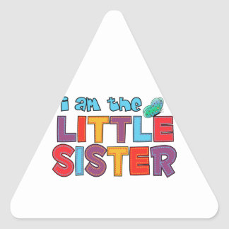 I am the Little Sister Butterfly Triangle Sticker