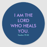 I AM THE LORD - 1118 CLASSIC ROUND STICKER
