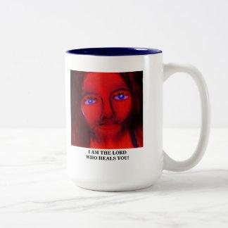 I AM THE LORD WHO HEALS YOU Two-Tone COFFEE MUG