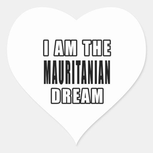 I am the Mauritanian Dream Heart Sticker