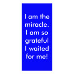 I am the miracle. full color rack card