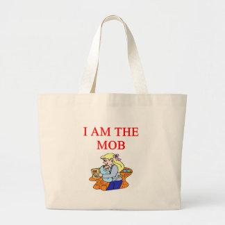 i am the mob canvas bag