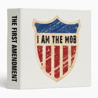 I Am The Mob Shield 3 Ring Binder