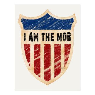 I Am The Mob Shield Postcard