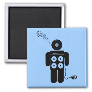 I Am The Music Man... 2 Inch Square Magnet