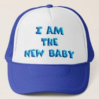 I am the New Baby boy Trucker Hat