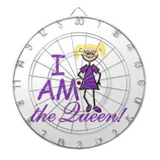 I Am The Queen Dartboard
