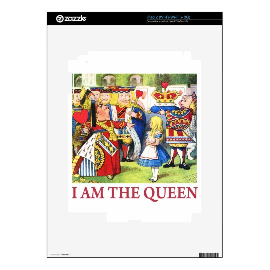 I Am The Queen Decals For The iPad 2