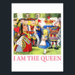 """I Am The Queen Postcard<br><div class=""""desc"""">The Queen of Hearts announces to Alice in Wonderland,  """"I Am The Queen!""""</div>"""