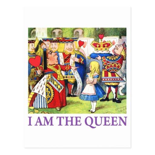 I Am The Queen Postcard