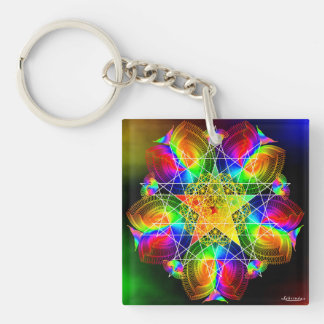 I Am the Rainbow/Finding Inner Peace Keychain